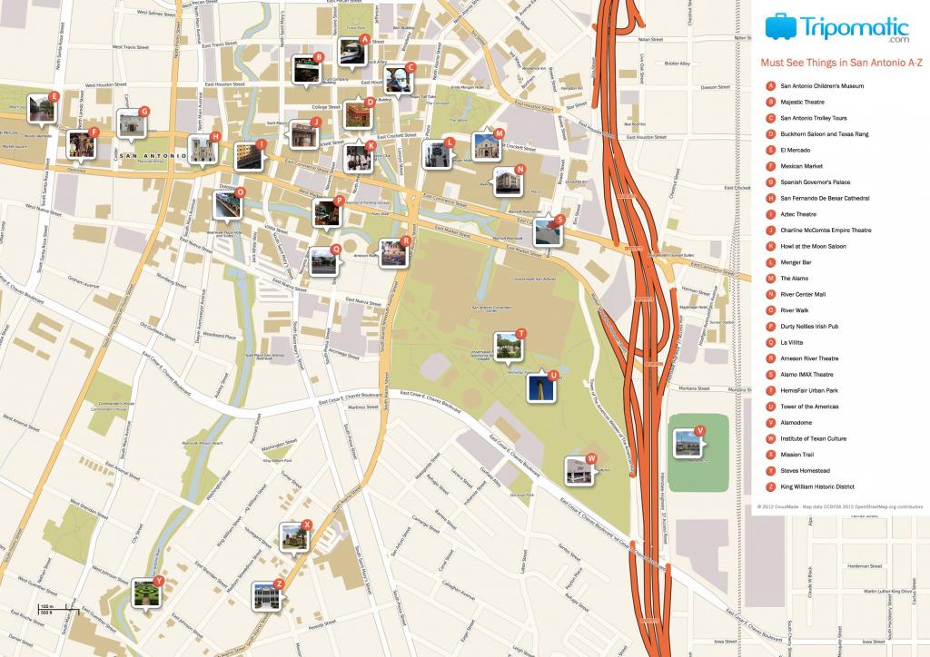 San Antonio Printable Tourist Map | Free Tourist Maps ✈ | Tourist in Printable Map Of San Antonio