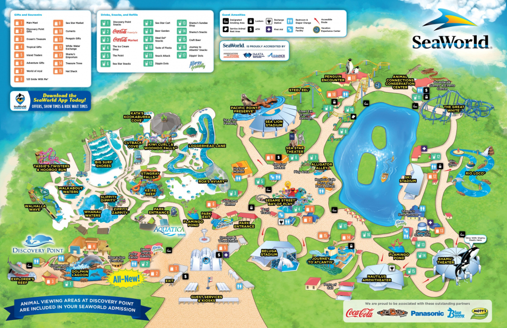 San Antonio Seaworld Map with Printable Sea World San Diego Map