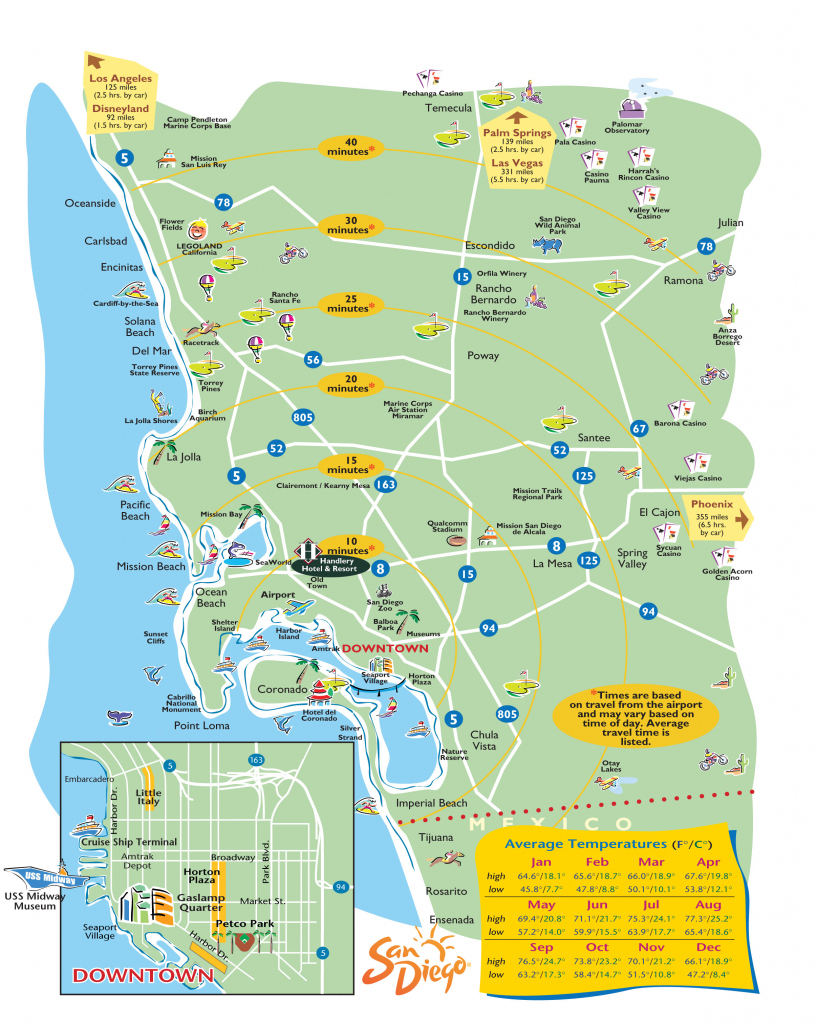 San Diego Attractions Map Printable | Printable Maps within San Diego Attractions Map Printable