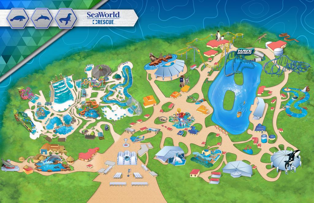 San Diego California Map Google Printable Maps Theme Park for Printable Sea World San Diego Map