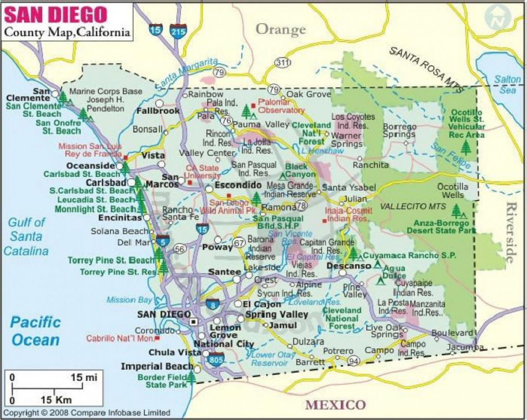 San Diego County Cities Map - Map Of San Diego County Cities within Printable Map Of San Diego County