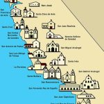 San Diego Missions Map California Road Map Map Of California For California Missions Map Printable