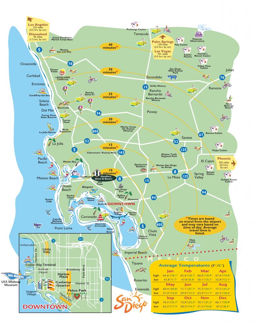 San-Diego-Printable-Maps within Printable Map Of San Diego