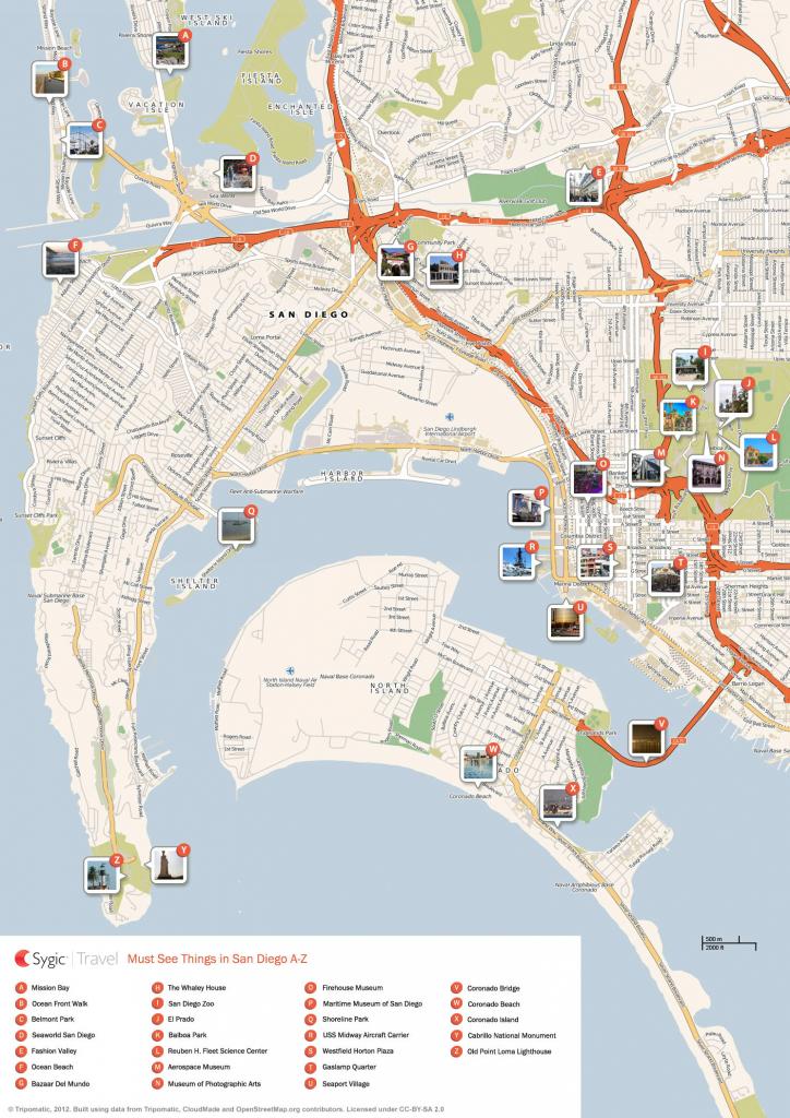San Diego Printable Tourist Map | Sygic Travel regarding Printable Map Of San Diego County