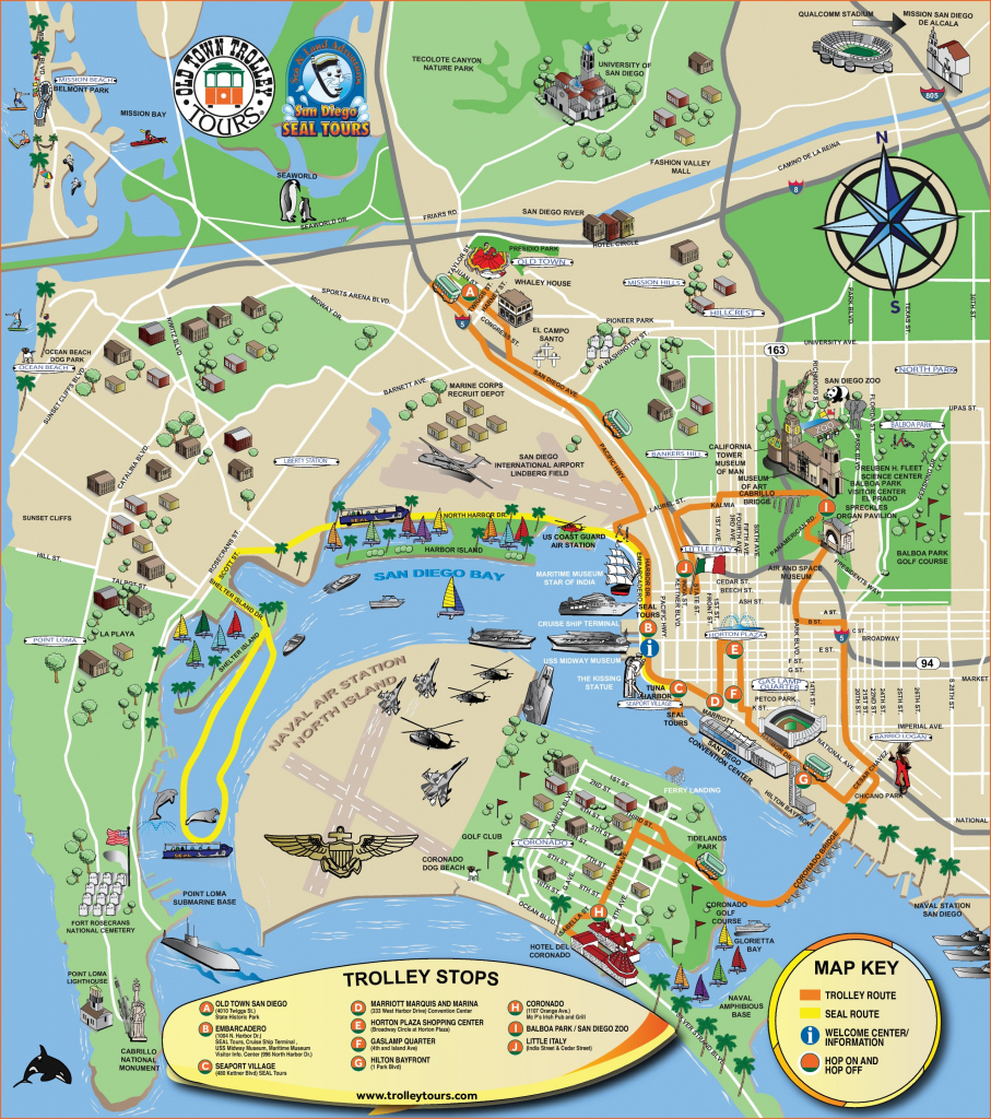 San Diego Tourist Attractions Map regarding San Diego Attractions Map Printable