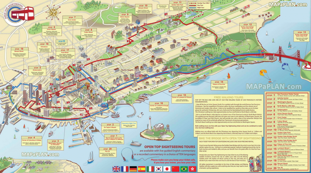 San Francisco Maps - Top Tourist Attractions - Free, Printable City inside San Francisco Tourist Map Printable