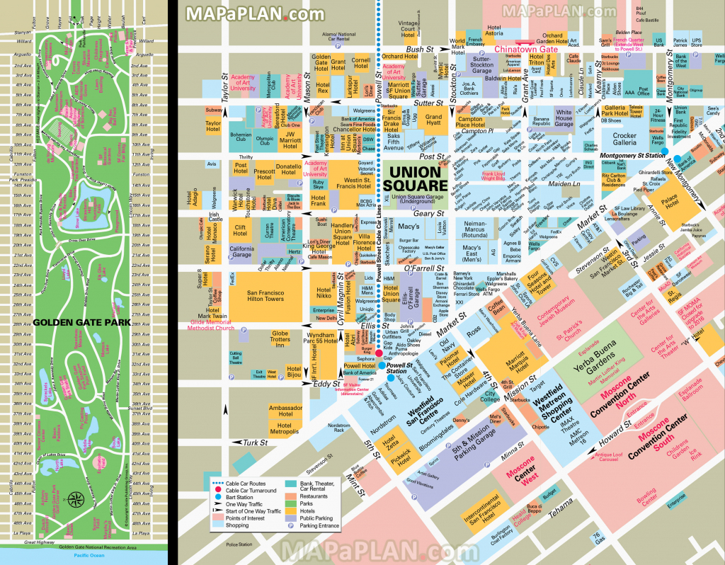San Francisco Maps - Top Tourist Attractions - Free, Printable City regarding Printable Map Of San Francisco Downtown