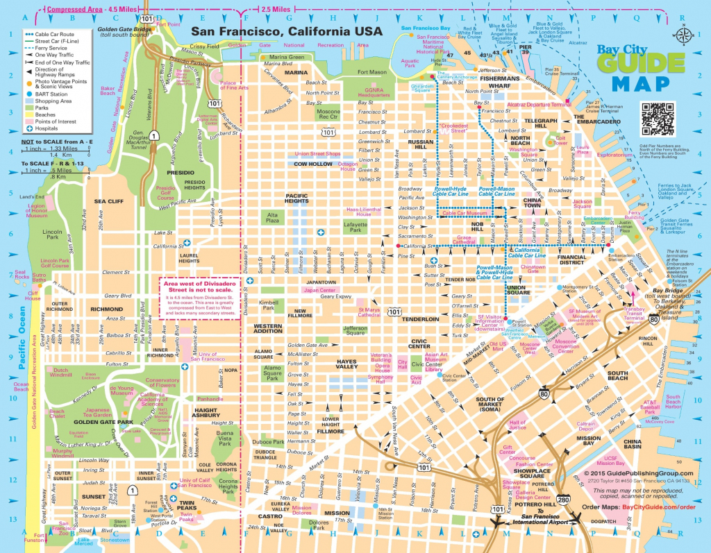 San Francisco Street Map with regard to Printable Map Of San Francisco