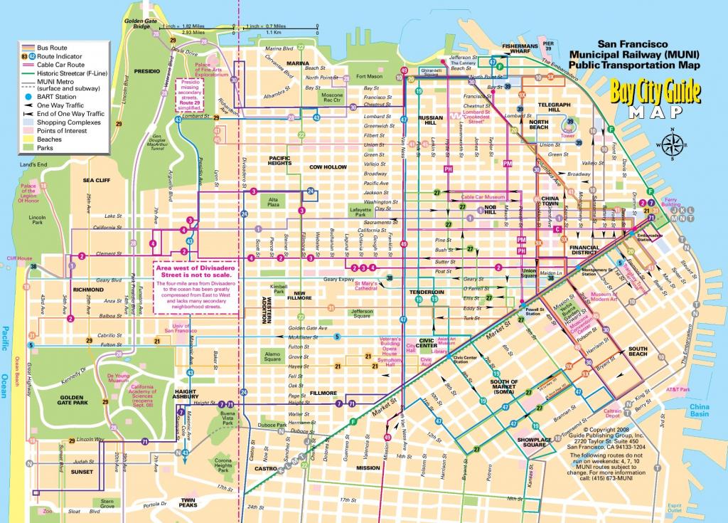 San Francisco Tourist Map - Printable Map Of San Francisco regarding Printable Map Of San Francisco