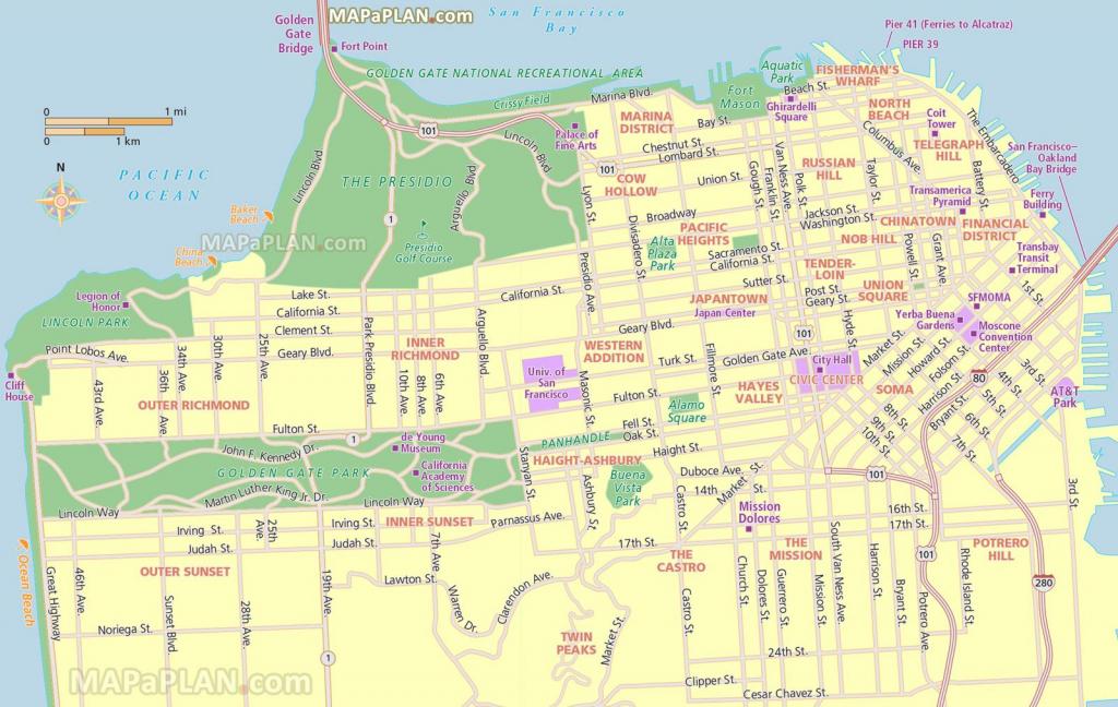 San Francisco Tourist Map Printable   San Francisco Map - What To within San Francisco Tourist Map Printable