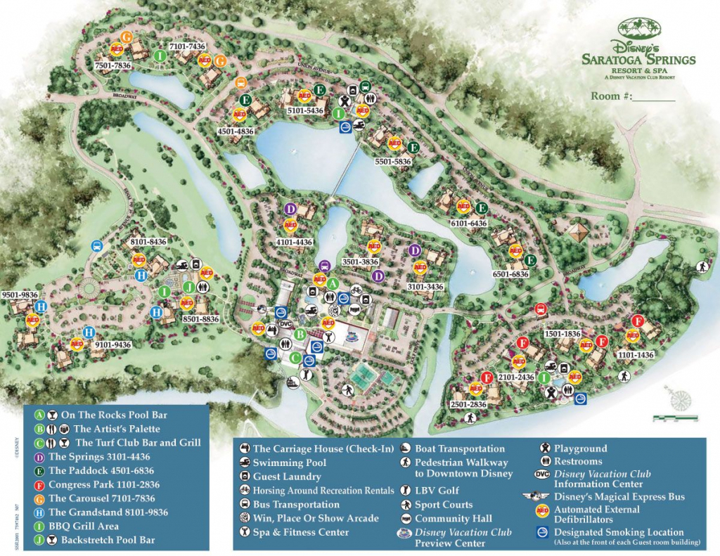 Saratoga Springs Map. Based On Location To Bus, Pool, Carriage House with regard to Disney Springs Map Printable