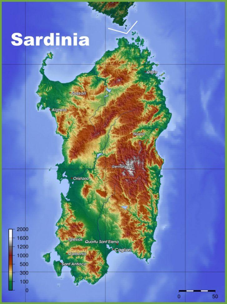 Printable Map Of Sardinia