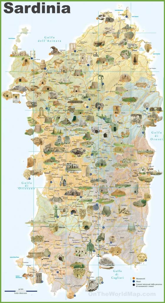 Sardinia Tourist Map pertaining to Printable Map Of Sardinia