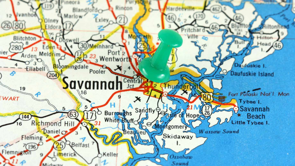 Savannah Tourist Map 35 Best Things To Do See In Georgia Activities within Printable Map Of Savannah Ga