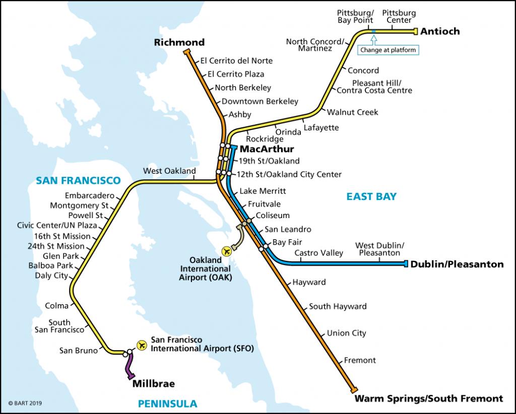 Schedules | Bart.gov regarding Printable Bart Map