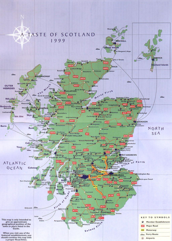 Scottland   Scotland Road Map - Scotland • Mappery   Scotland within Printable Road Map Of Scotland
