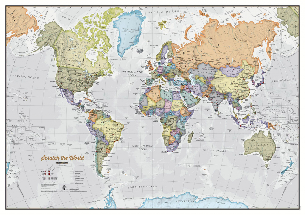 Scratch The World® Map Print throughout Printable Map With Pins