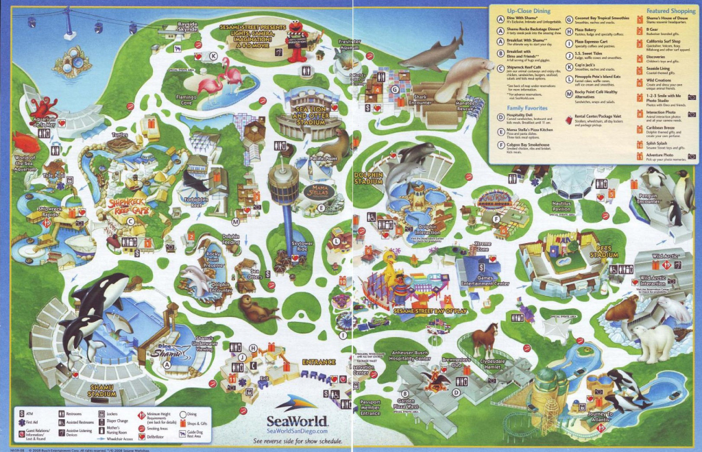 Sea World Map - World Wide Maps intended for Printable Sea World San Diego Map