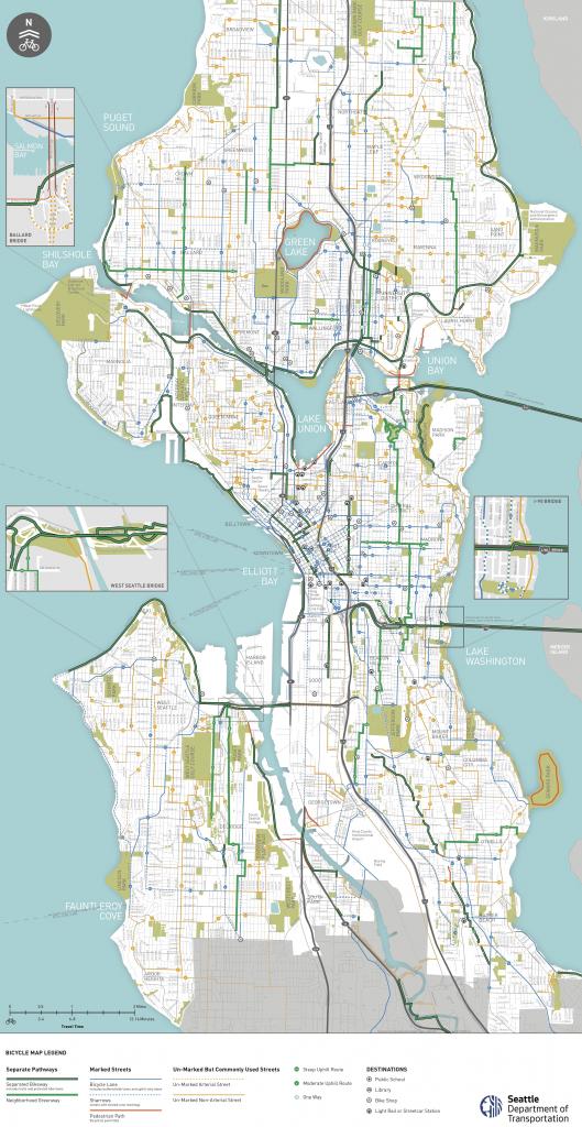 Seattle Area Bike Maps | Seattle Bike Blog inside Printable Map Of Seattle