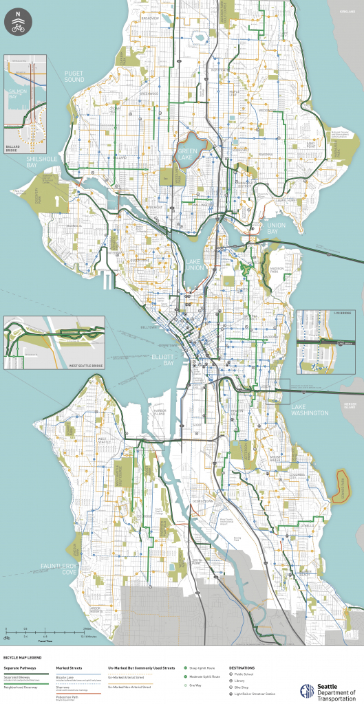 Seattle Area Bike Maps | Seattle Bike Blog intended for Printable Area Maps