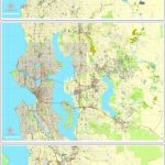 Seattle Pdf Map State Washington, Us Printable Vector City Plan 3 intended for Printable Map Of Seattle