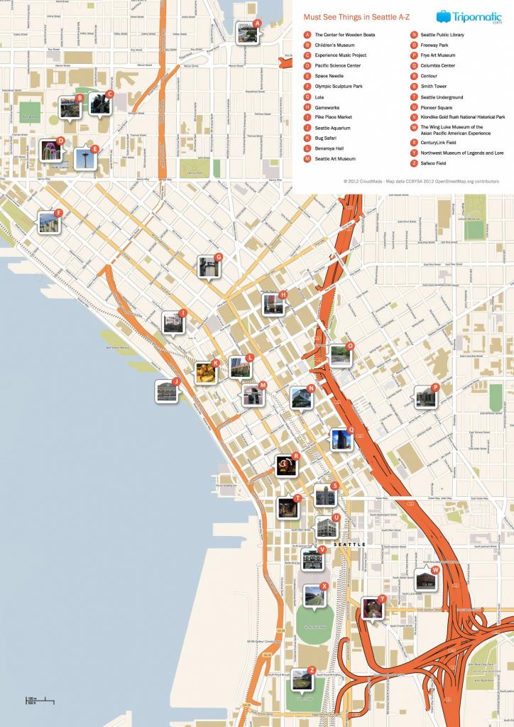 Seattle Printable Tourist Map | Free Tourist Maps ✈ | Seattle within Printable Map Of Seattle