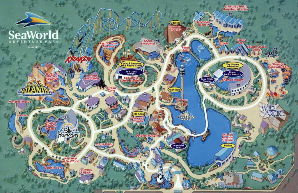 Seaworld Map Orlando - 7007 Sea Harbor Dr Orlando Fl • Mappery for Seaworld Orlando Park Map Printable