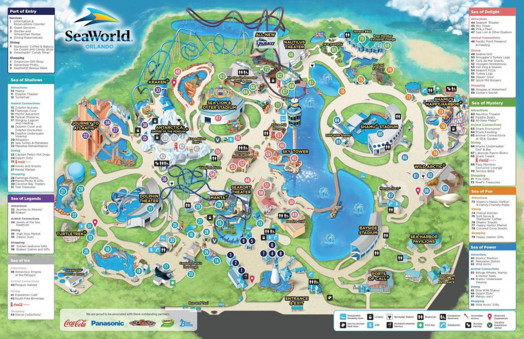 Seaworld Orlando Map - Map Of Seaworld (Florida - Usa) inside Printable Sea World San Diego Map
