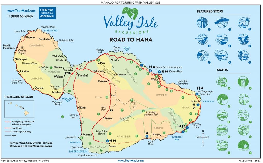 See The Road To Hana | Highway Map & Guide To Hana Maui with Printable Map Of Maui