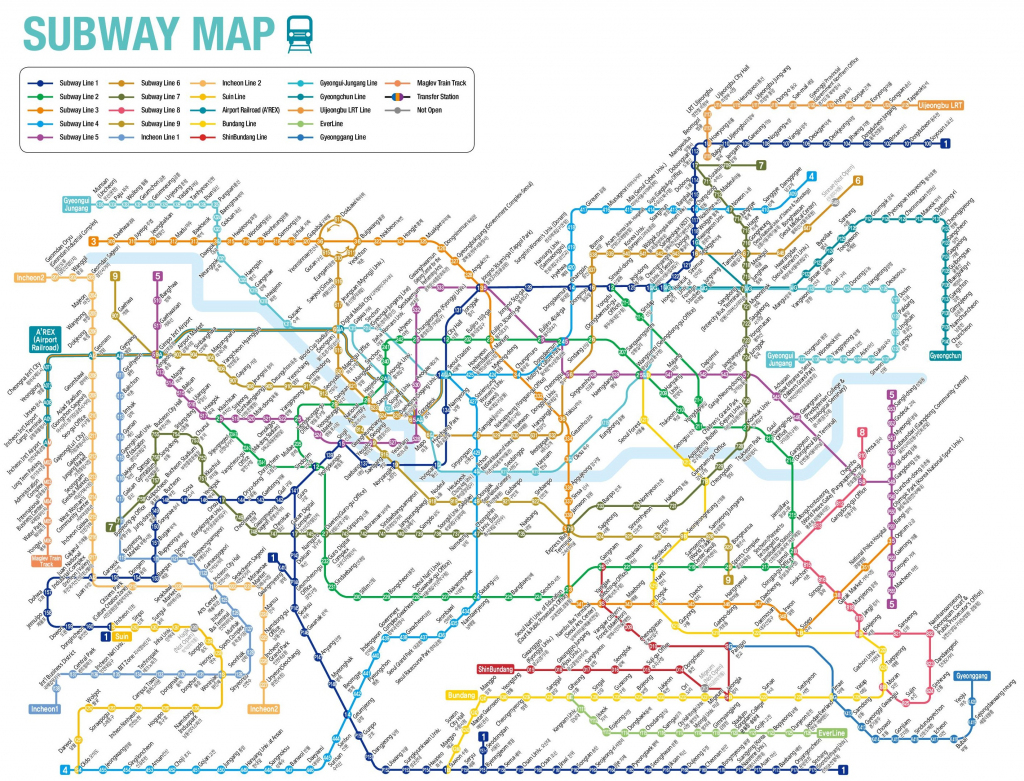 Seoul Subway Map in Printable Seoul Subway Map