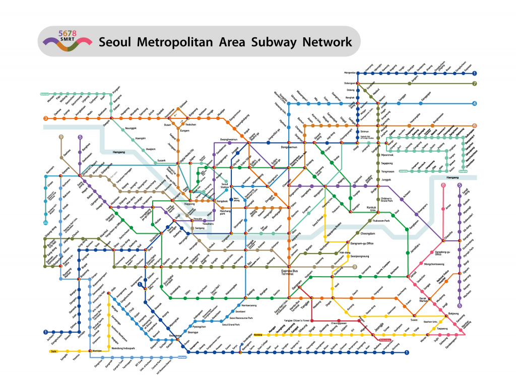 Seoul Subway Metro Map English Version (Updated) pertaining to Printable Seoul Subway Map