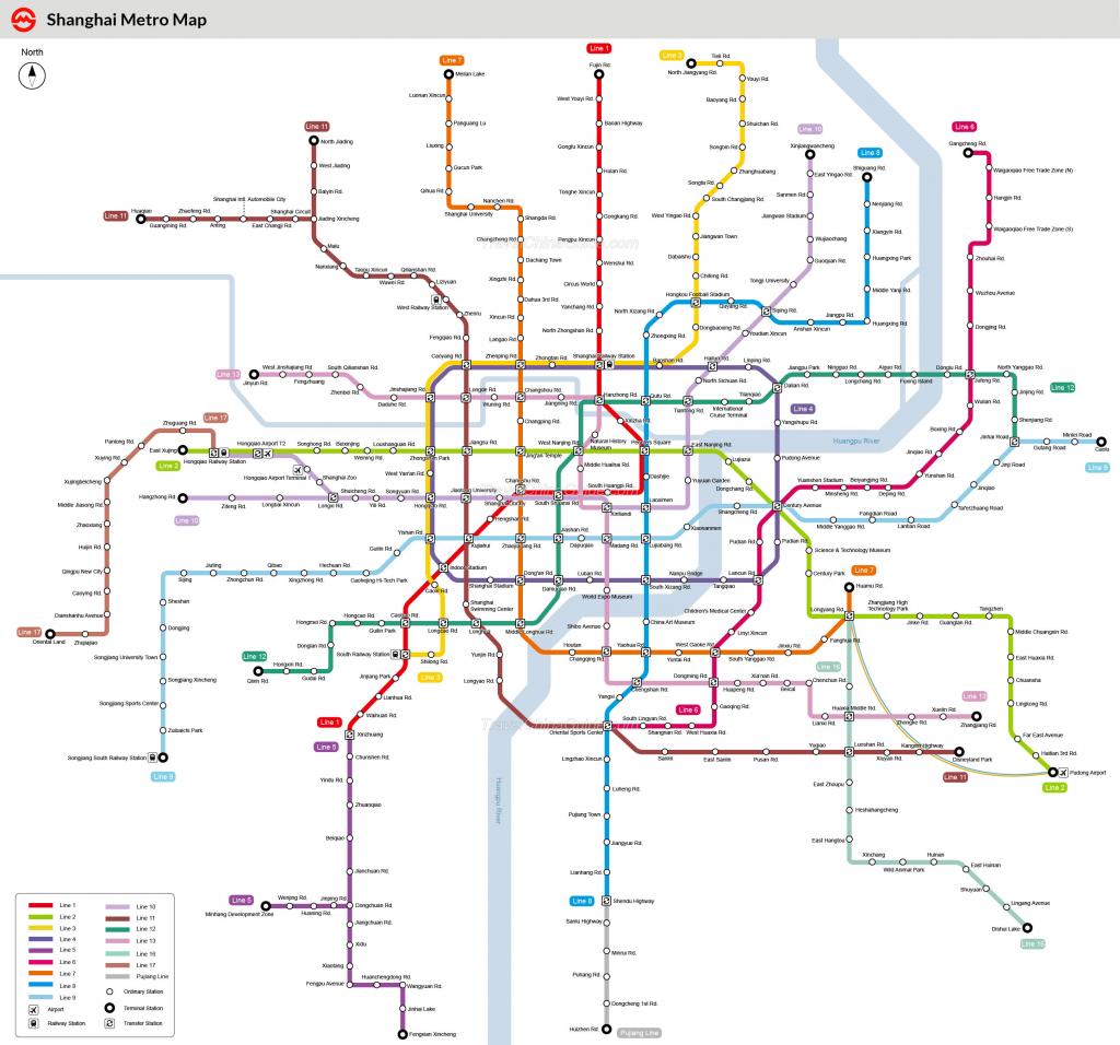 Shanghai Metro Maps, Printable Maps Of Subway, Pdf Download for Printable Subway Map