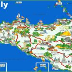 Sicily Tourist Map Pertaining To Printable Map Of Sicily