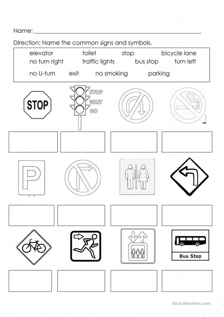 Signs And Symbols | Learning For Kids | Map Symbols, Worksheets For pertaining to Map Symbols For Kids Printables
