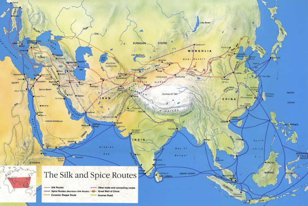 Silk Road Maps 2019 - Useful Map Of The Ancient Silk Road Routes inside Silk Road Map Printable