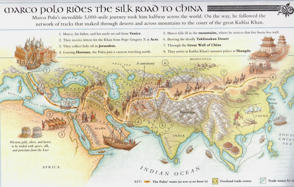 Silk Road Maps 2019 - Useful Map Of The Ancient Silk Road Routes throughout Silk Road Map Printable