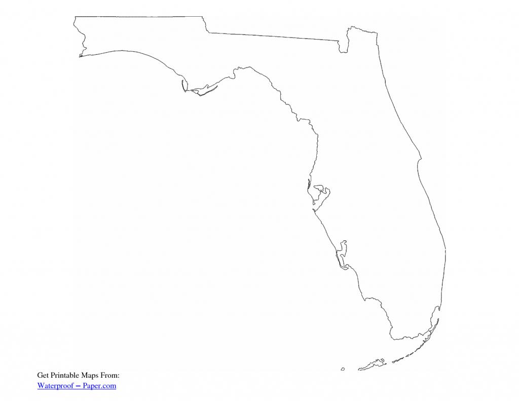 Simple Florida Outline - Google Search | Kabana Mural | Florida inside Florida Map Outline Printable