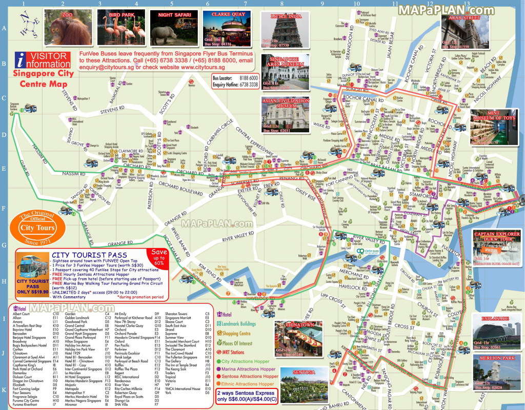 Singapore Maps - Top Tourist Attractions - Free, Printable City inside Singapore City Map Printable