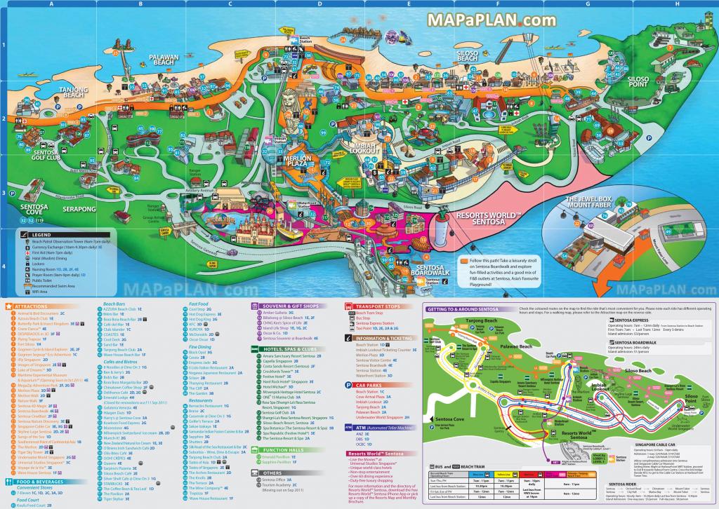 Singapore Maps - Top Tourist Attractions - Free, Printable City intended for Printable Map Of Singapore