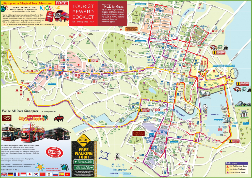 Singapore Tourist Map intended for Singapore City Map Printable