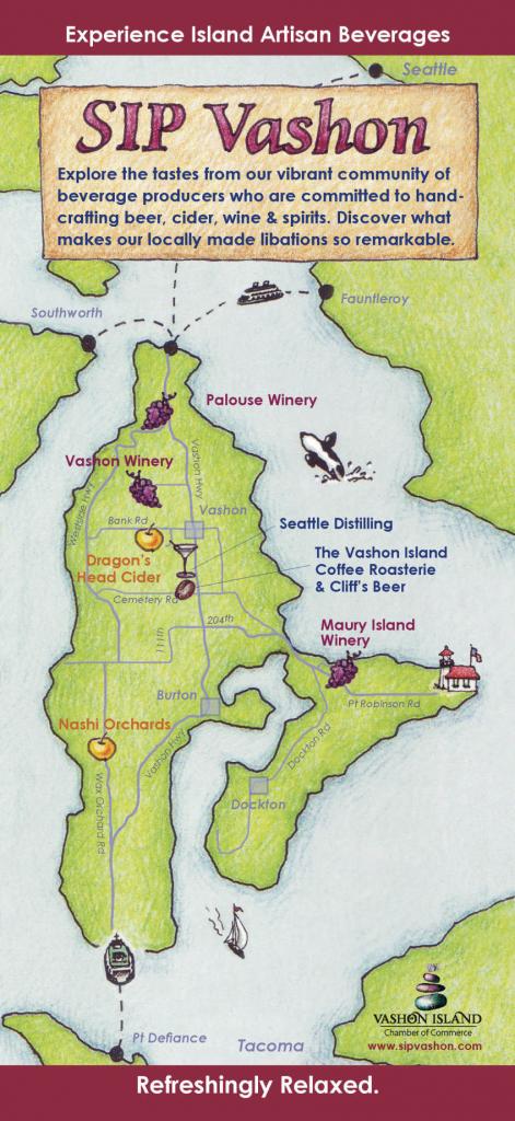 Sip Vashon - Vashon-Maury Island Chamber Of Commerce inside Vashon Island Map Printable