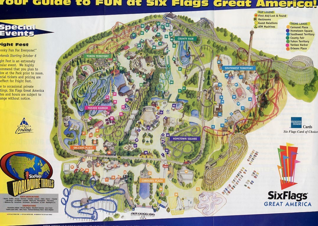 Six Flags Map Usa At Great America Park Roundtripticket Me And 6 throughout Six Flags Great America Printable Park Map