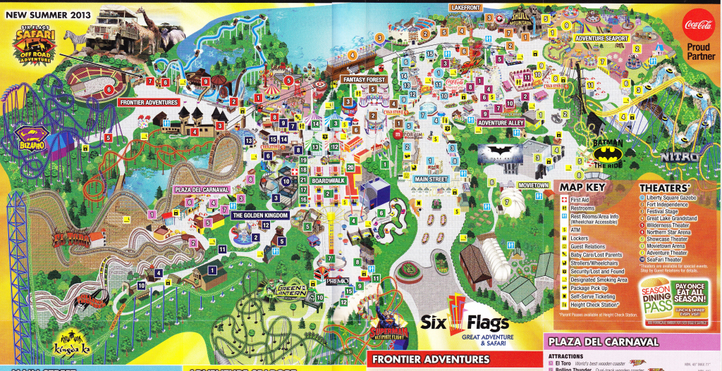 Six Flags Map Usa | Globalsupportinitiative regarding Six Flags Great America Printable Park Map