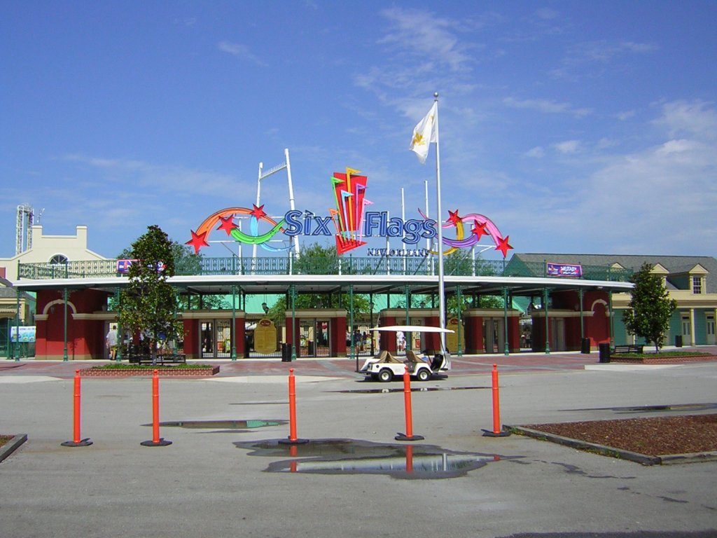 Six Flags New Orleans - Wikipedia throughout Six Flags New England Map Printable
