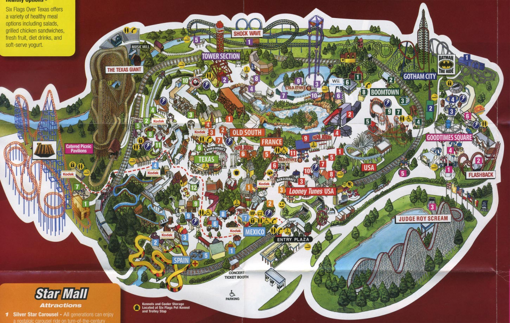 Six Flags Over Texas Map | Business Ideas 2013 throughout Printable Six Flags Over Georgia Map