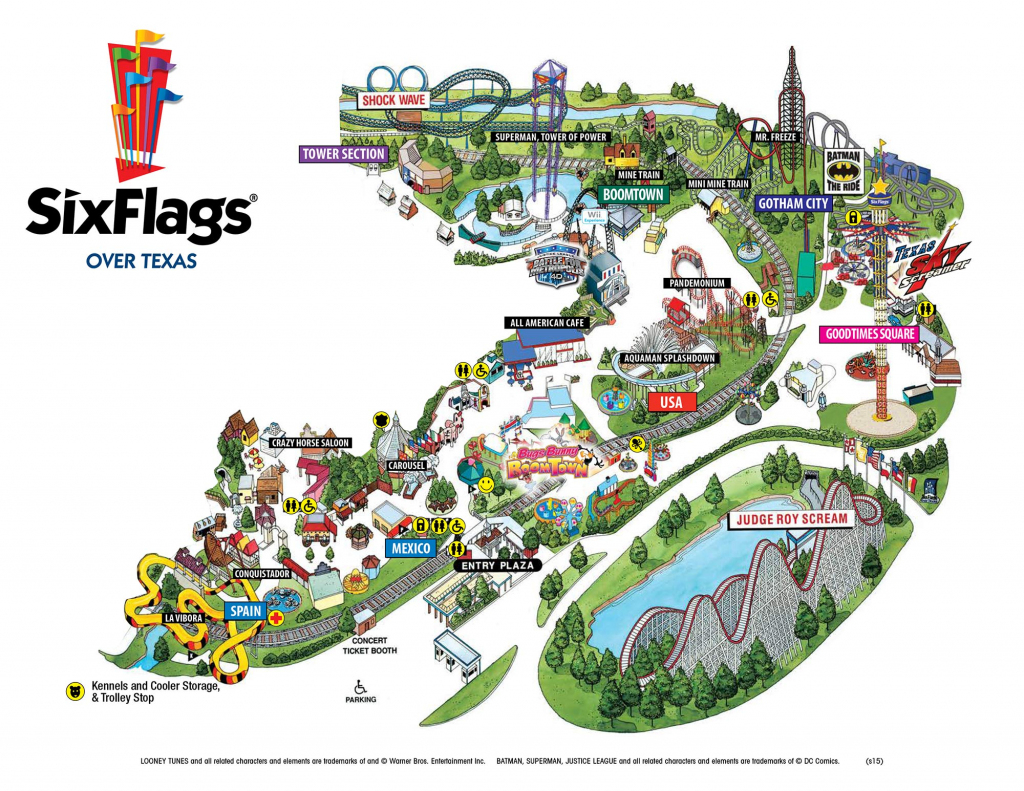 Six Flags Over Texas Map | Sitedesignco pertaining to Printable Six Flags Over Georgia Map