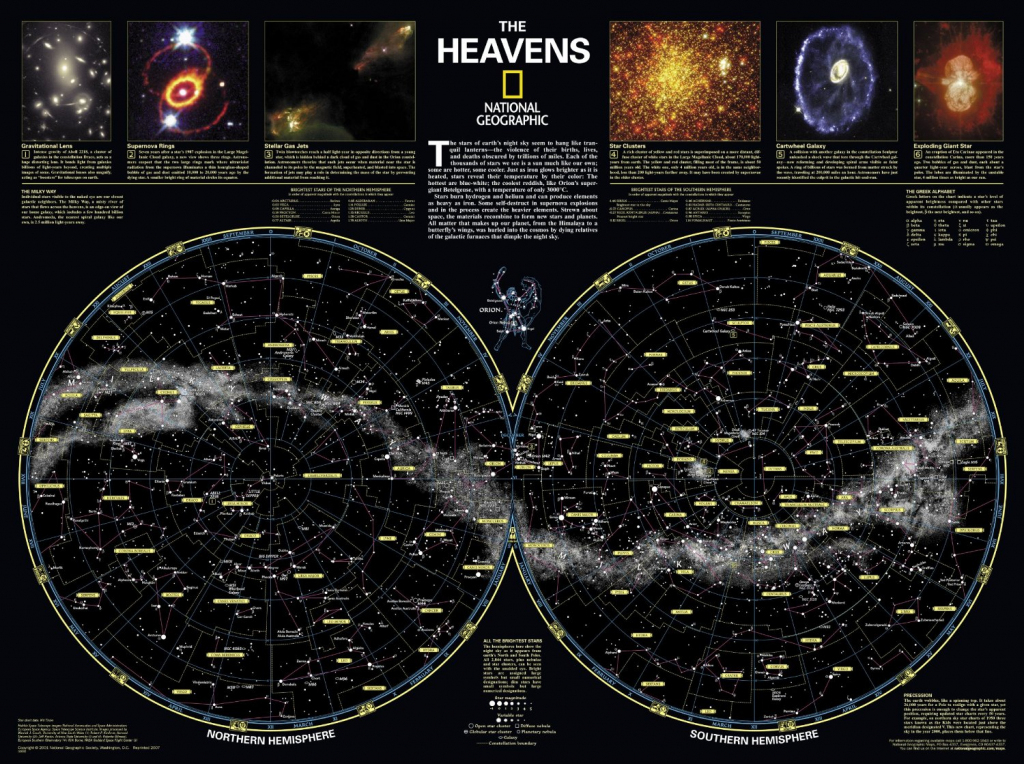 Skymaps - Publication Quality Sky Maps & Star Charts throughout Printable Star Map