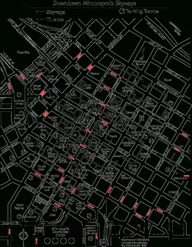 Skyway Map Minneapolis | Afputra with Minneapolis Skyway Map Printable