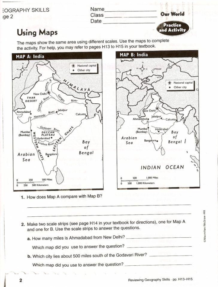 Map Reading Quiz Printable