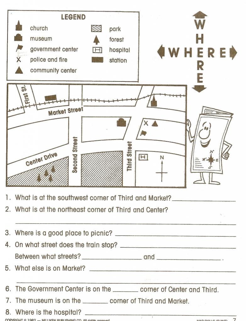 Social Studies Worksheets - Google Search | Social Studies | Map for Map Symbols For Kids Printables